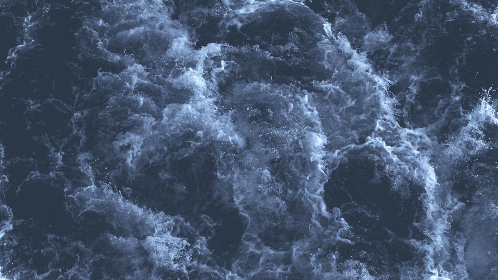 Birds eye view of a stormy sea